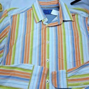 Tommy Bahama SAMPLE Ocean Washed Dress Shirt Large